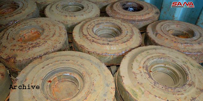 Two children injured in explosion of a landmine left behind by terrorists in Quneitra countryside