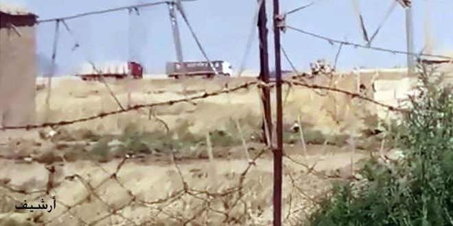 US occupation brings in convoy loaded with equipment from Iraq to Hasaka countryside