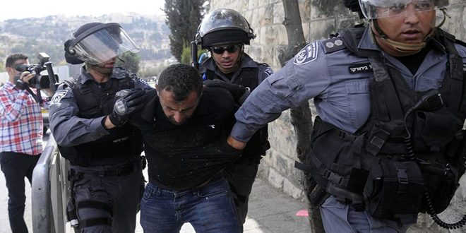 Israeli occupation forces arrest four Palestinians in Hebron