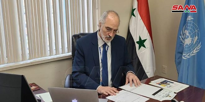 Al-Jaafari: countries hostile to Syria, particularly the US and Turkey, support terrorist organizations and separatist militias