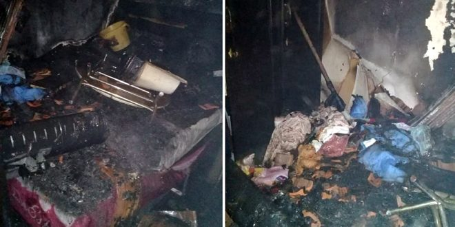 Extinguishing fire erupted in a house in Mezzeh, Damascus, material damage reported
