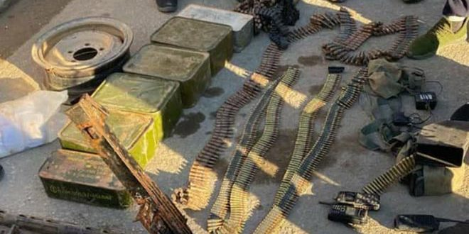 Army units find weapons, ammunition left by  remnants of Daesh in al-Badia region
