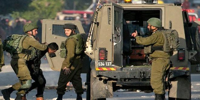 Israeli occupation forces arrest four Palestinians in the West Bank