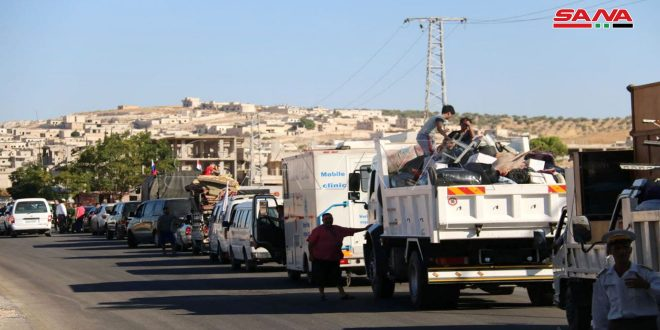 Several families return to Hish in Idleb countryside after providing necessary service needs to the village