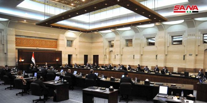 Cabinet endorses a development plan for areas witnessed settlement processes in Daraa province