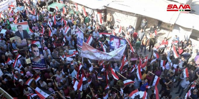 Popular gathering in Aleppo countryside to condemn Turkish occupation crimes