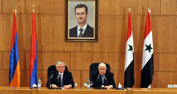 rueda de prensa de al-Moallem con Nalbadyan