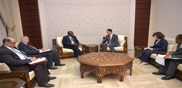 presidente al-Assad sudafirca