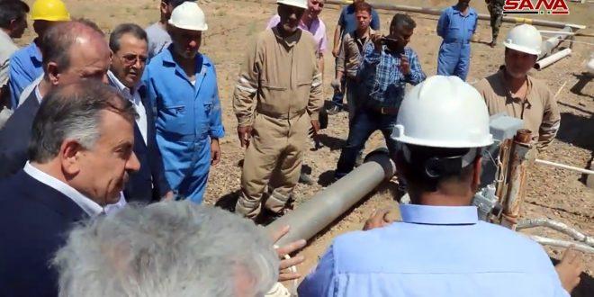 Delegación ministerial inspecciona obras destinados a restablecer servicios básicos en Deir Ezzor