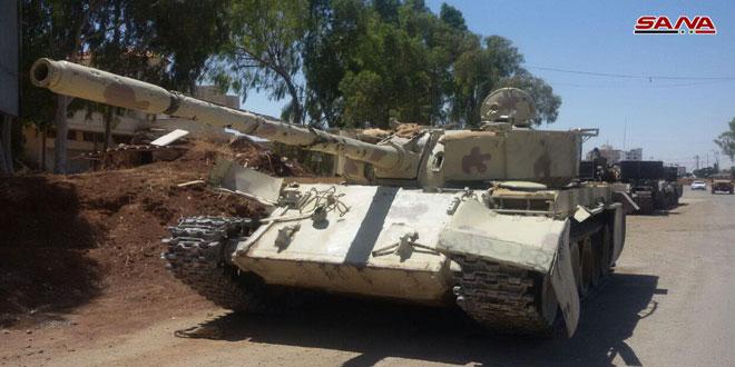 Armados en Deraa Al-Balad continúan entrega de sus armas pesadas al ejército