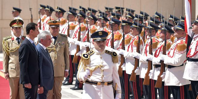 El presidente al-Assad recibe al presidente de la República de Abjasia