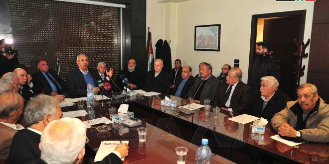 Facciones palestinas en Siria reiteran su repudio al llamado Acuerdo del Siglo