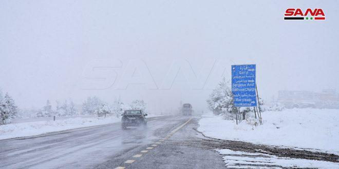 Nevada en la ciudad de Qara en la zona de Qalamun (Damasco-campo)