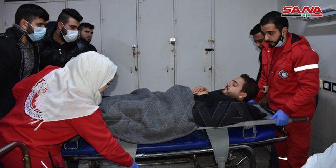 Herido corresponsal del canal sirio SAMA en Idleb