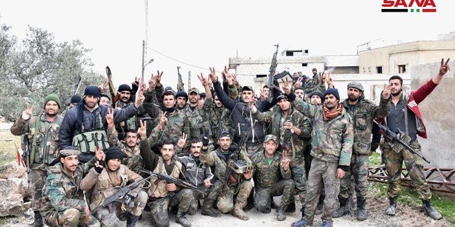 Cámara de SANA acompaña al ejército en dos localidades liberadas en Idleb