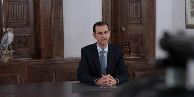 Presidente Al-Assad: La batalla en Alepo e Idleb continuará independientemente de algunas ruidos que vienen del norte