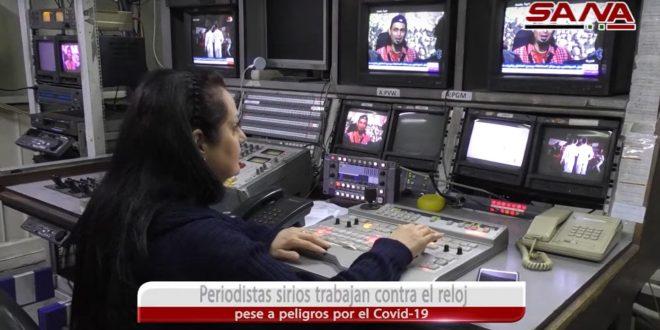 Periodistas sirios trabajan contra el reloj pese a peligros por el Covid 19