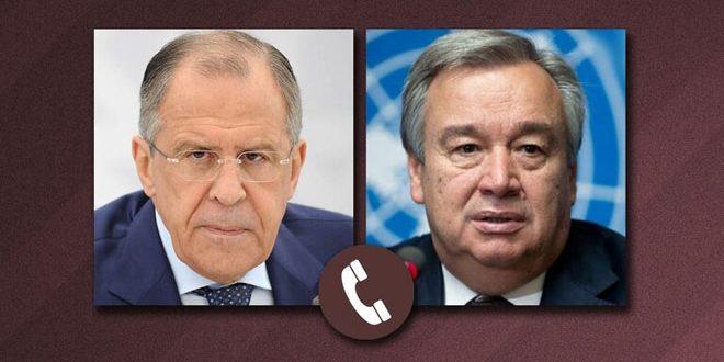 Lavrov y Guterres examinan la crisis en Siria