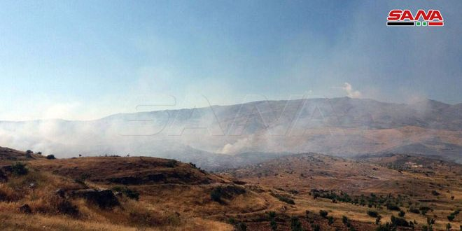 Fuerzas de ocupación israelíes provocan incendios y disparan contra los cuerpos de bomberos sirios