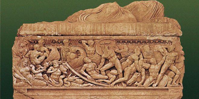 La batalla de Troya representada por escultores sirios hace 19 siglos