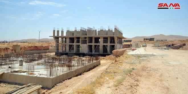 Finalizan 80% de infraestructura de un importante suburbio residencial en las afueras de Damasco