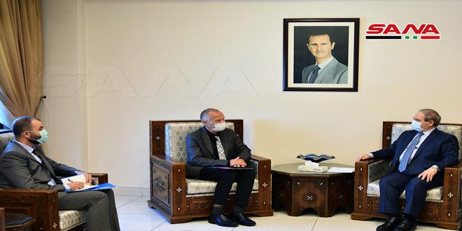 Al-Mekdad afirma importancia de potenciar la cooperación con UNICEF