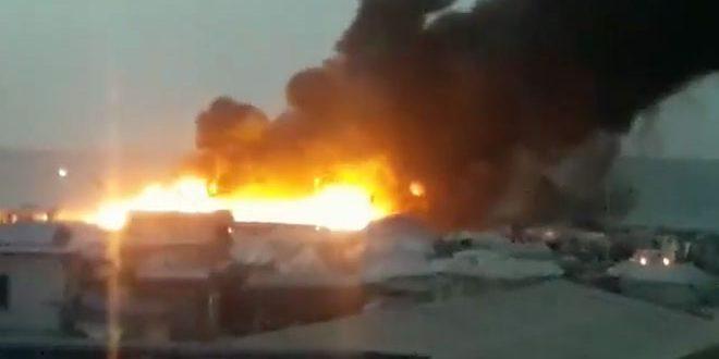 Incendio quema a 25 tiendas de campaña en campamento de desplazados en Hasakeh
