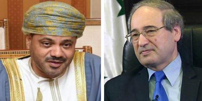 Mekdad y su homólogo omaní repasan vías para mejorar la cooperación bilateral