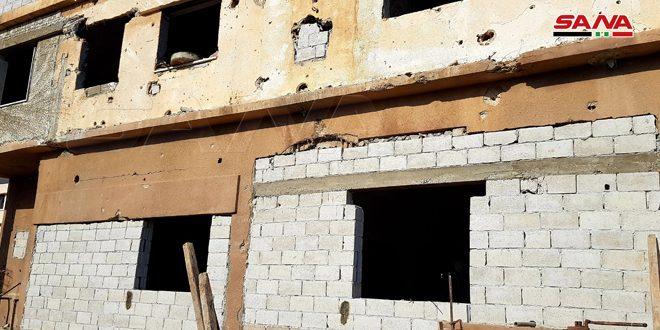 Reconstruyen sede de la Empresa de Electricidad en Palmira, Homs