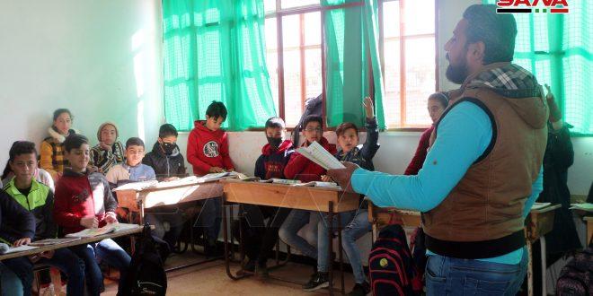 Se rehabilita una escuela en Deraa gracias al trabajo voluntario