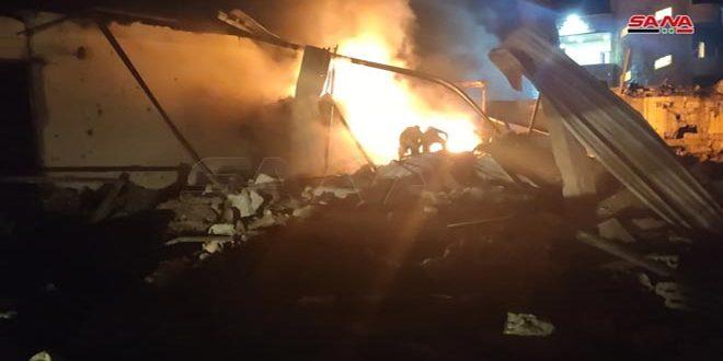 Daños materiales por la agresión israelí contra la región costera de Siria