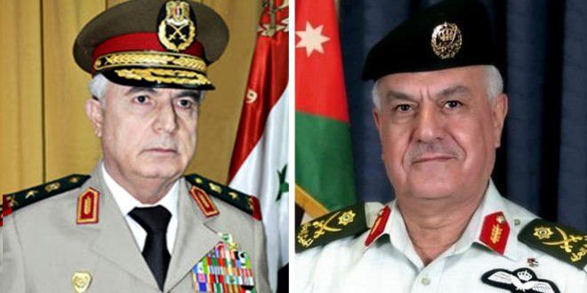 Ministro de Defensa de Siria realiza visita oficial a Jordania invitado por el Jefe de Estado Mayor del Reino Hachemita