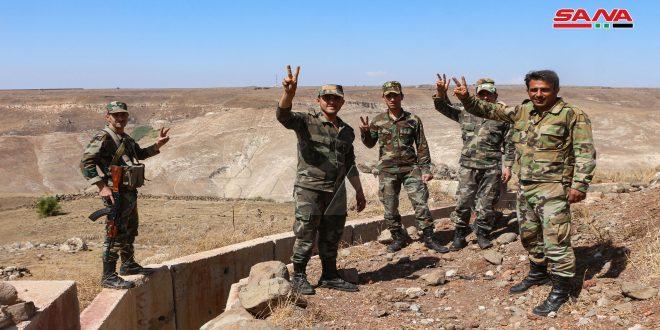 Ejército sirio fijó nuevas posiciones militares en áreas aledañas al Golán sirio ocupado en el extremo noroeste de Deraa. (+ fotos)