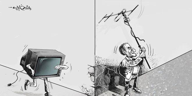 Caricatura siria sobre realidad de medios audiovisuales gana premio en una bienal en Eslovaquia