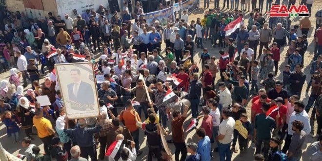 Protesta popular en el norte de Alepo contra el ocupante turco y sus mercenarios