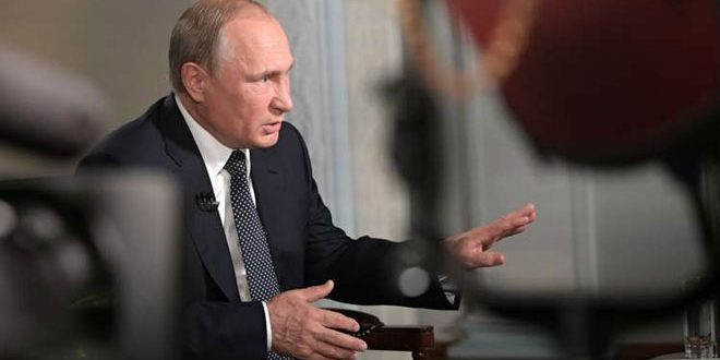 پوتین : گروه های تروریستی مسؤول قربان شدن غير نظاميان در سوريه هستند