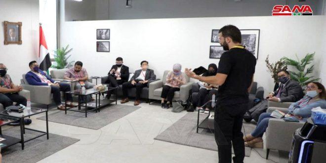 """Entretiens entre des représentants du pavillon syrien à """"Expo Dubaï"""" avec leurs homologues de plusieurs pays"""