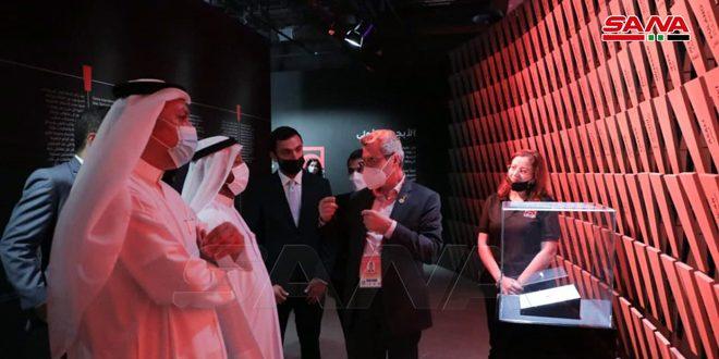 Une délégation émiratie visite le pavillon de la Syrie à l'Expo Dubaï