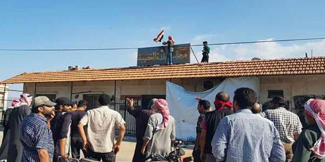תושבי הכפרים בפרבר אל-קונייטרה בגזרות המרכז והדרום, קוראים לגרוש הטרוריסטים ולכניסת הצבא הערבי הסורי