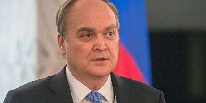 אנטונוב: הרמה הנוכחית של שתוף הפעולה בין וואשינגטון למוסקבה בקשר למאבק בטרור בסוריה אין די בה