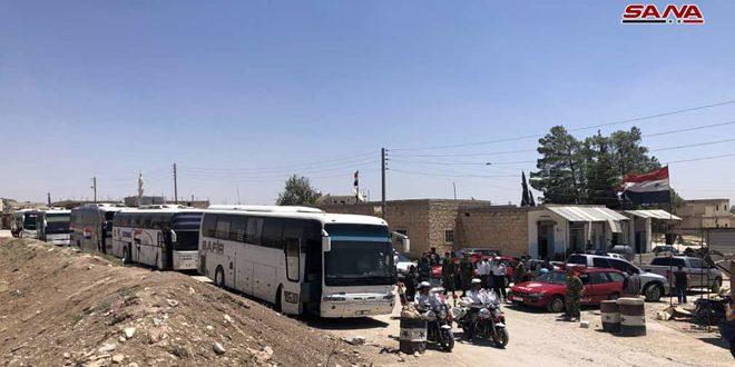כניסת 121 אוטובוסים לעיירות כפריה ואל-פועה שבפרבר אדלב כדי להוציא את התושבים הנצורים והעברתם לעיר חלב