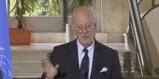 Де Мистура: Дальнейшие шаги по разрешению кризиса в Сирии будут зависеть от переговоров на встрече в Лозанне