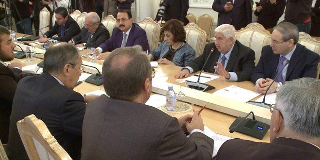 Аль-Муаллем на встрече с Лавровым: Сирия готова начать поиск путей политического урегулирования кризиса