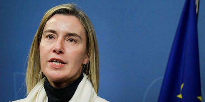 Могерини: Ни одна из стран ЕС не предлагала ввести санкции в отношении России из-за Сирии