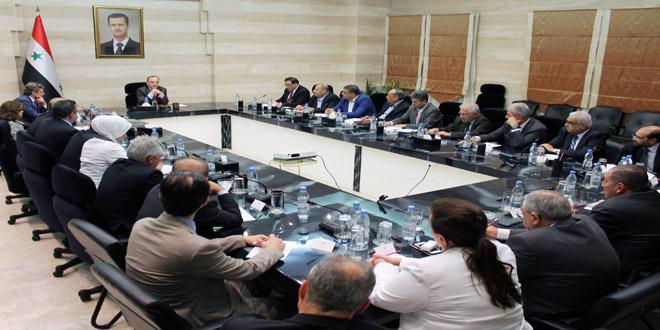 Хамис возглавил собрание представителей государственных и частных банков Сирии