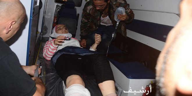 В Алеппо в квартале Ас-Сулеймания от разрыва ракетного снаряда пострадали 10 человек