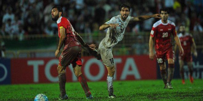 На Азиатском отборочном турнире ЧМ-2018 сборная Сирии по футболу сыграла вничью с Ираном