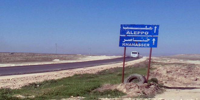 Движение на трассе Алеппо — Асрия осуществляется в обычном режиме