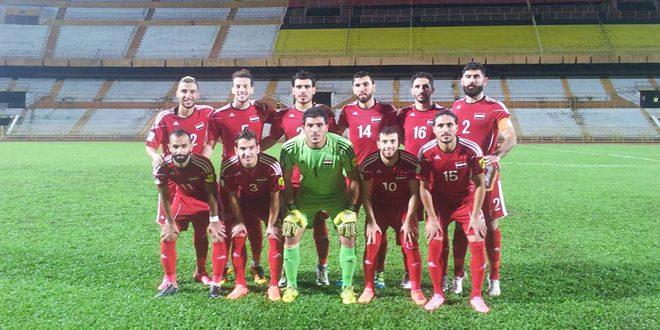 Сборная Сирии по футболу выиграла дружеский матч с командой Сингапура со счетом 2:0