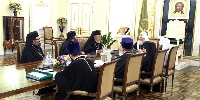 Святейший патриарх Кирилл выразил солидарность с народами Сирии и Ирака, страдающими от терроризма